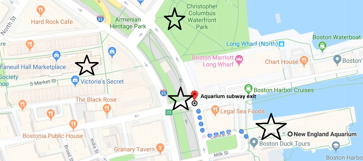 NEAQ map of quincy market